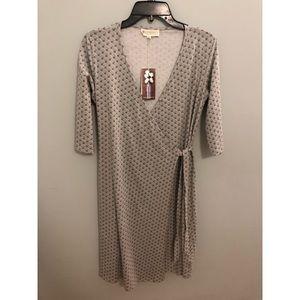 NWT synergy organic cotton wave wrap dress M